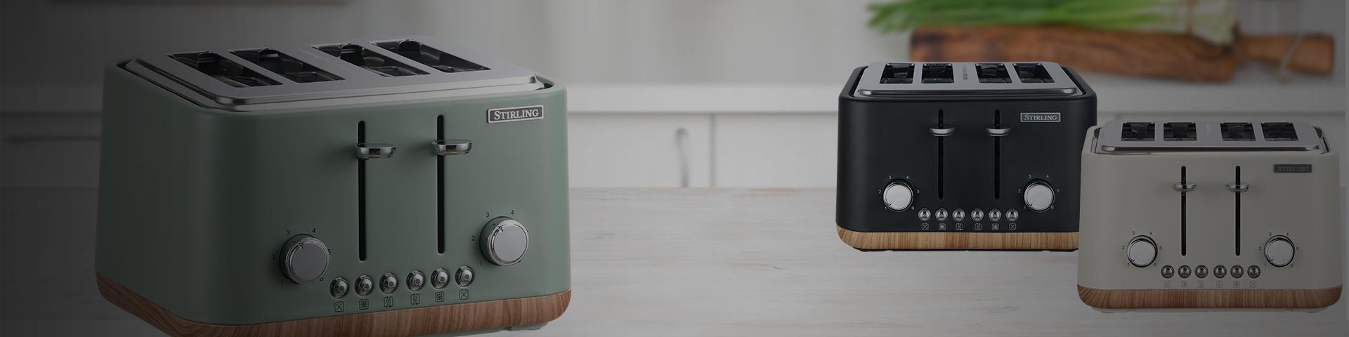 4 Slice Toaster Wood Trim